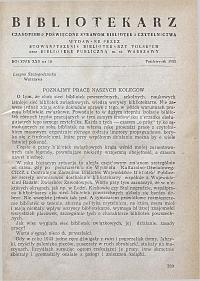 Okładka Bibliotekarz 1955, nr 10