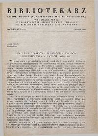 Okładka Bibliotekarz 1955, nr 11