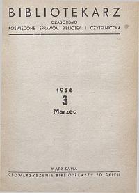 Okładka Bibliotekarz 1956, nr 3