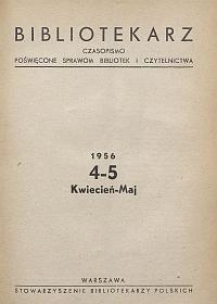 Okładka Bibliotekarz 1956, nr 4-5