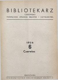 Okładka Bibliotekarz 1956, nr 6