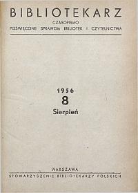 Okładka Bibliotekarz 1956, nr 8