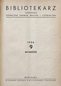 Okładka Bibliotekarz 1956, nr 9