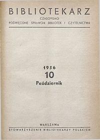 Okładka Bibliotekarz 1956, nr 10