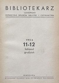 Okładka Bibliotekarz 1956, nr 11-12