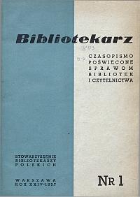 Okładka Bibliotekarz 1957, nr 1