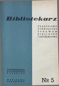 Okładka Bibliotekarz 1957, nr 5