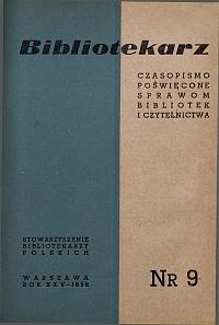 Okładka Bibliotekarz 1958, nr 9