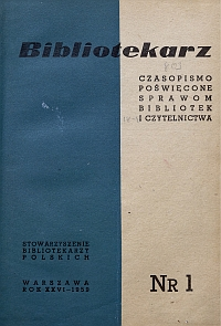 Okładka Bibliotekarz 1959, nr 1