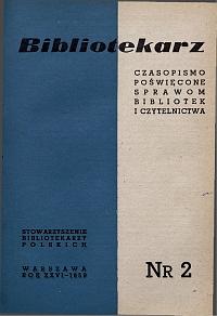 Okładka Bibliotekarz 1959, nr 2