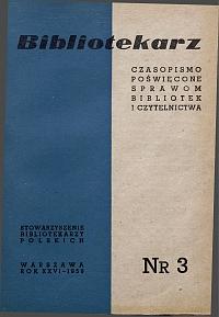 Okładka Bibliotekarz 1959, nr 3