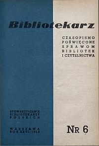 Okładka Bibliotekarz 1959, nr 6