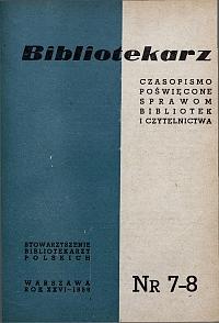 Okładka Bibliotekarz 1959, nr 7-8