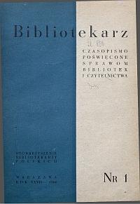 Okładka Bibliotekarz 1960, nr 1