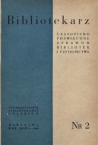 Okładka Bibliotekarz 1960, nr 2