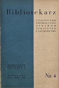 Okładka Bibliotekarz 1960, nr 4