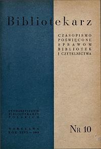 Okładka Bibliotekarz 1960, nr 10