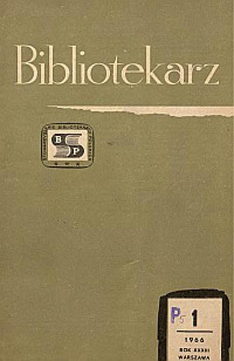 Okładka Bibliotekarz 1966, nr 1