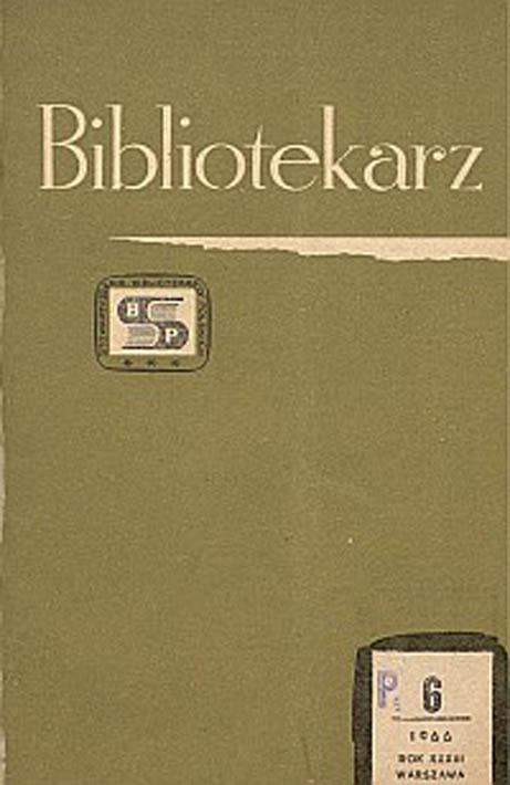 Okładka Bibliotekarz 1966, nr 6