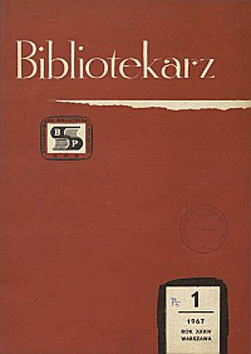 Okładka Bibliotekarz 1967, nr 1