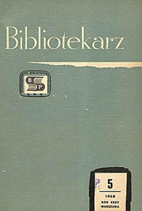 Okładka Bibliotekarz 1968, nr 5