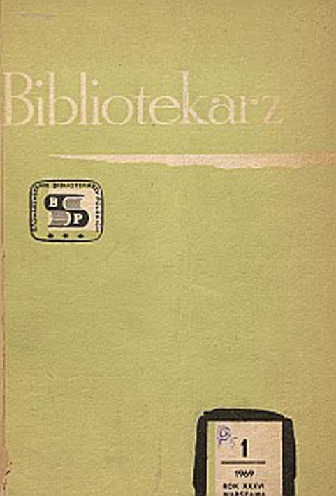 Okładka Bibliotekarz 1969, nr 1