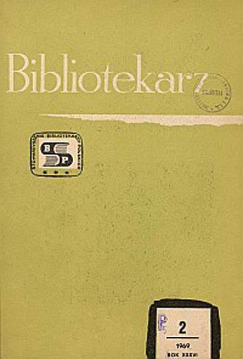 Okładka Bibliotekarz 1969, nr 2