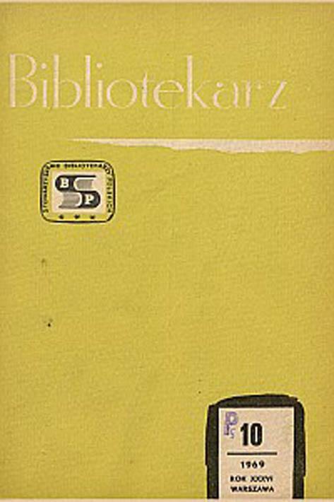 Okładka Bibliotekarz 1969, nr 10