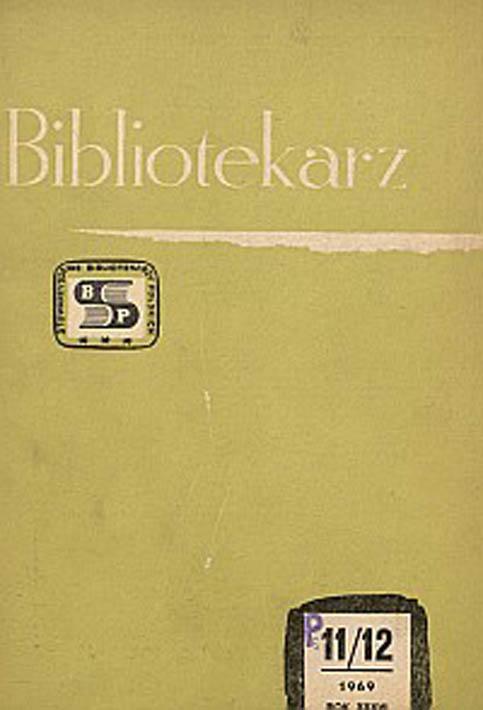 Okładka Bibliotekarz 1969, nr 11-12