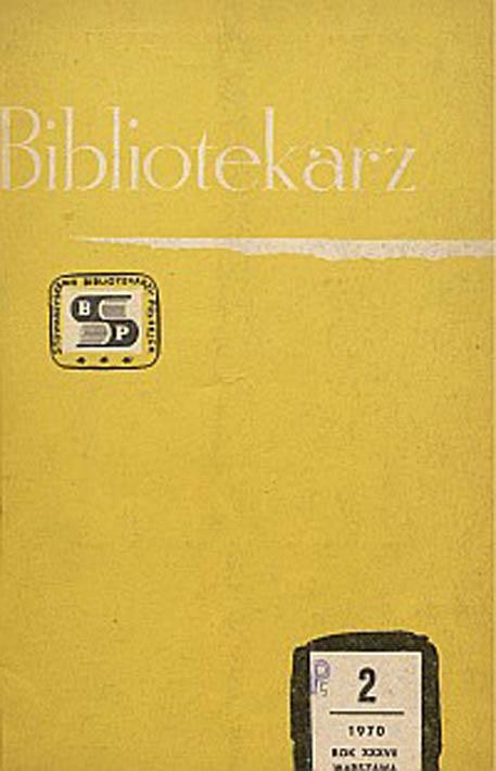 Okładka Bibliotekarz 1970, nr 2