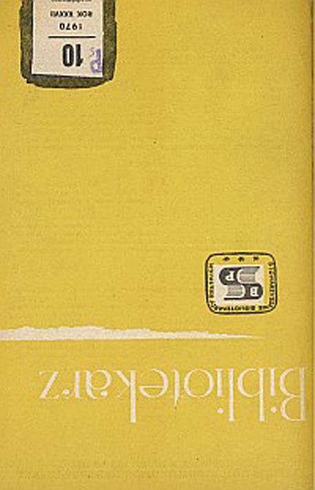 Okładka Bibliotekarz 1970, nr 10