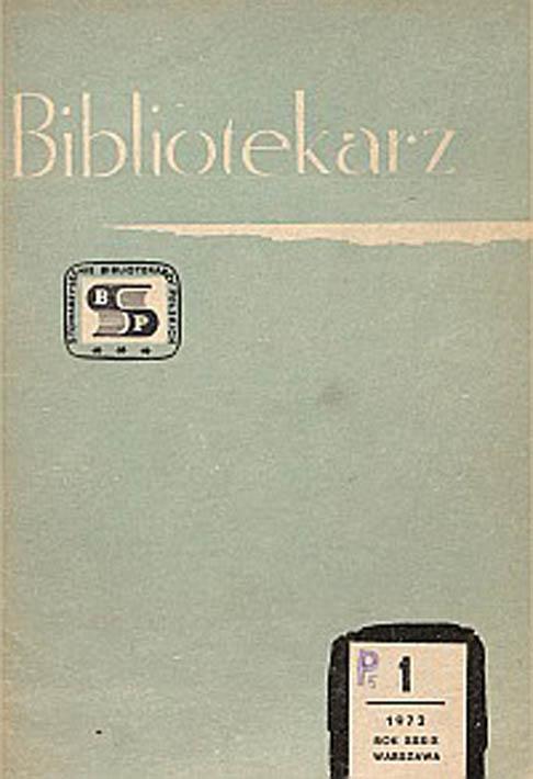 Okładka Bibliotekarz 1972, nr 1