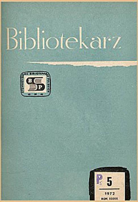 Okładka Bibliotekarz 1972, nr 5