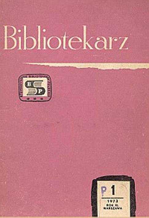 Okładka Bibliotekarz 1973, nr 1