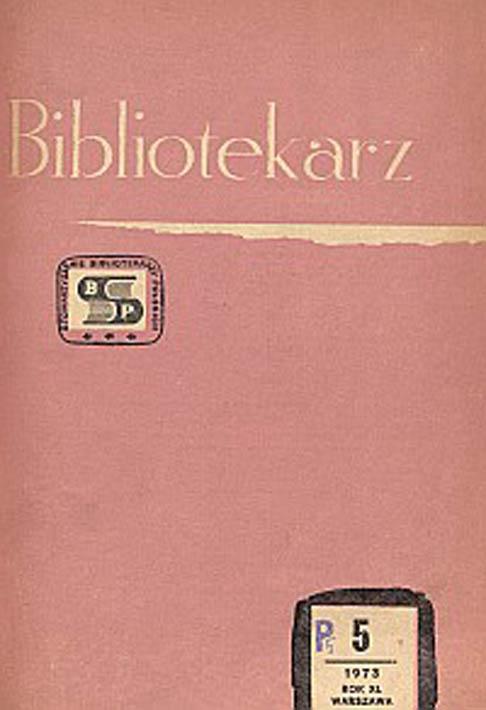 Okładka Bibliotekarz 1973, nr 5