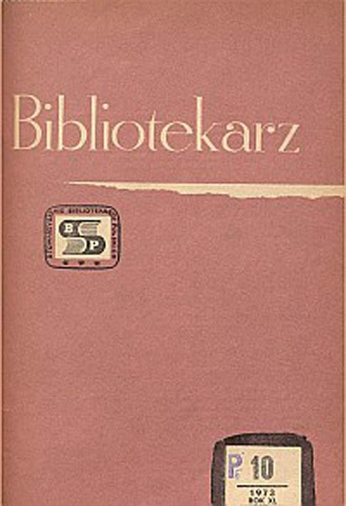 Okładka Bibliotekarz 1973, nr 10