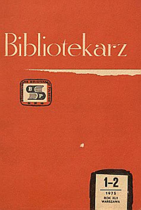 Okładka Bibliotekarz 1975, nr 1-2