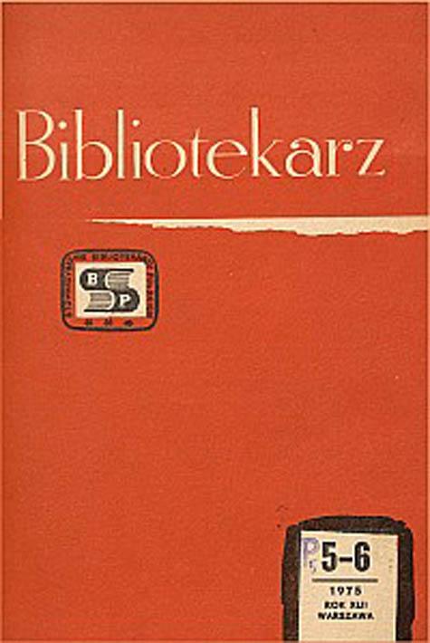 Okładka Bibliotekarz 1975, nr 5-6