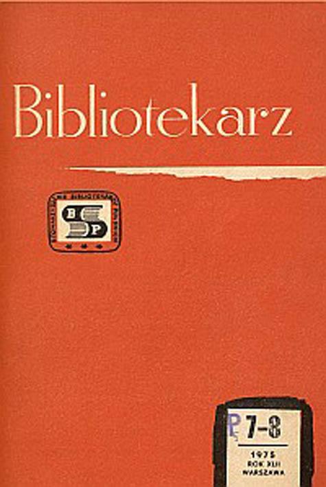 Okładka Bibliotekarz 1975, nr 7-8