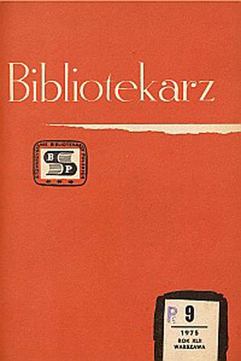 Okładka Bibliotekarz 1975, nr 9
