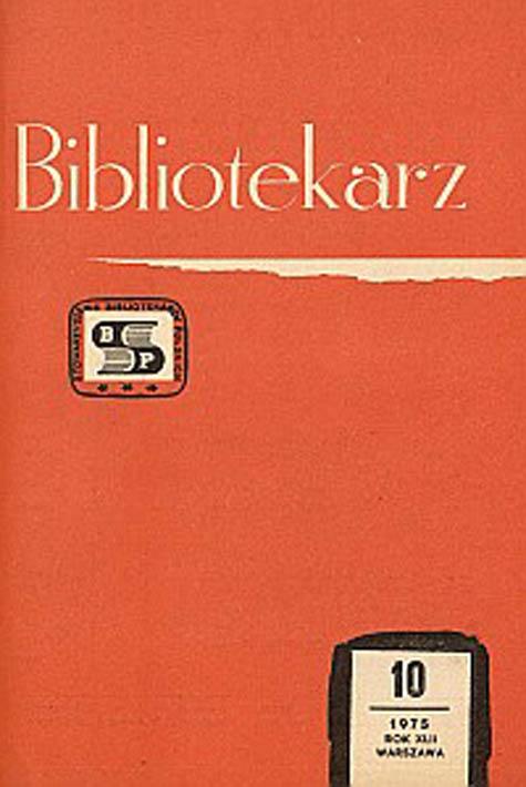 Okładka Bibliotekarz 1975, nr 10