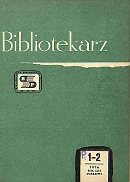 Okładka Bibliotekarz 1976, nr 1-2