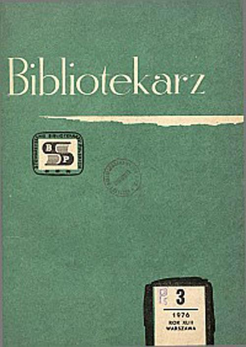 Okładka Bibliotekarz 1976, nr 3