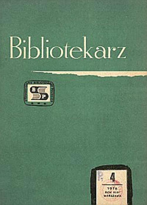 Bibliotekarz 1976, nr 4