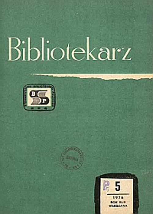 Okładka Bibliotekarz 1976, nr 5