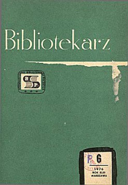 Okładka Bibliotekarz 1976, nr 6