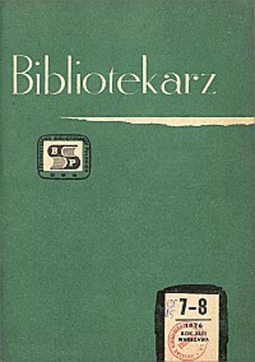 Okładka Bibliotekarz 1976, nr 7-8