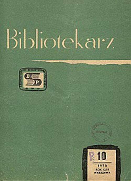Okładka Bibliotekarz 1976, nr 10