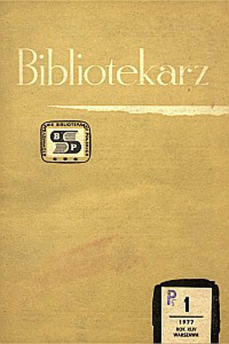 Okładka Bibliotekarz 1977, nr 1