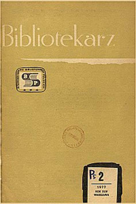 Okładka Bibliotekarz 1977, nr 2
